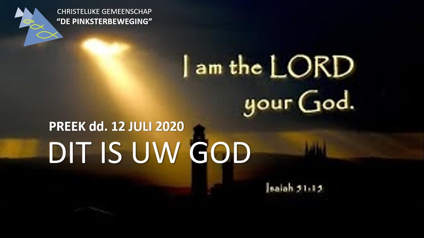 Uw God